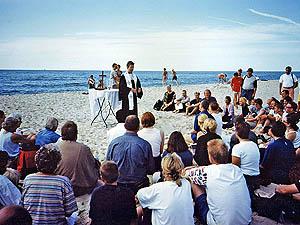 Heiraten am strand von sylt